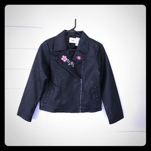 Children's place faux leather Moto jacket youth 14